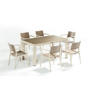 6 kişilik balkon masa takımı