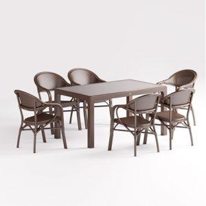6 kişilik dayanıklı masa