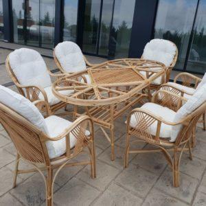 Vizyon Bambu Bahçe balkon teras mobilyaları masa takimi kisilik 6 kişilik
