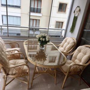 Bursa Bambu Masa Sandalye Takımı